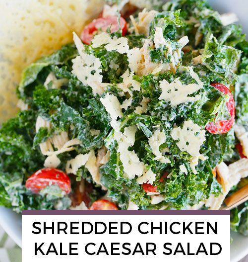 Shredded Kale Caesar Salad recipe