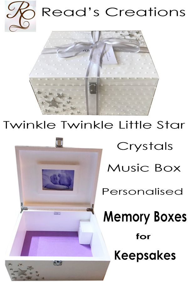 Beautiful Baby Or Childs Wooden Memory Or Keepsake Box In White
