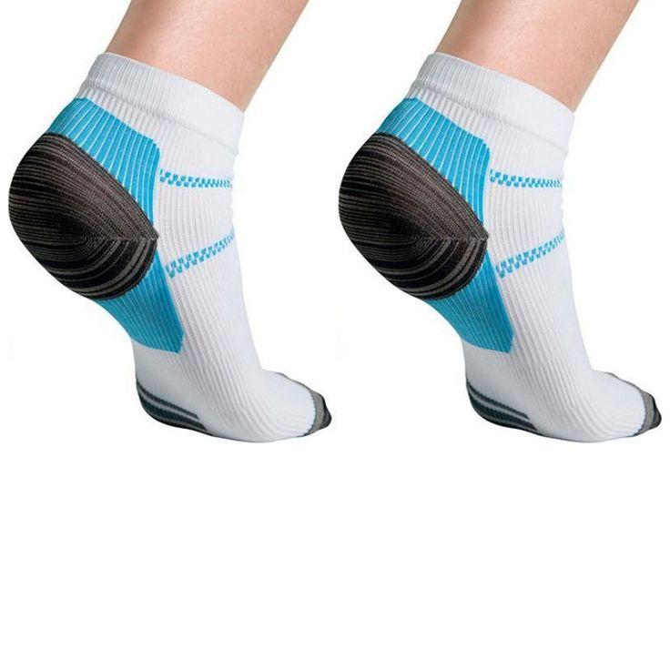 Set For 2 Foot Compression Sock For Plantar Fasciitis Heel Spurs Pain Sport Sock FM0356