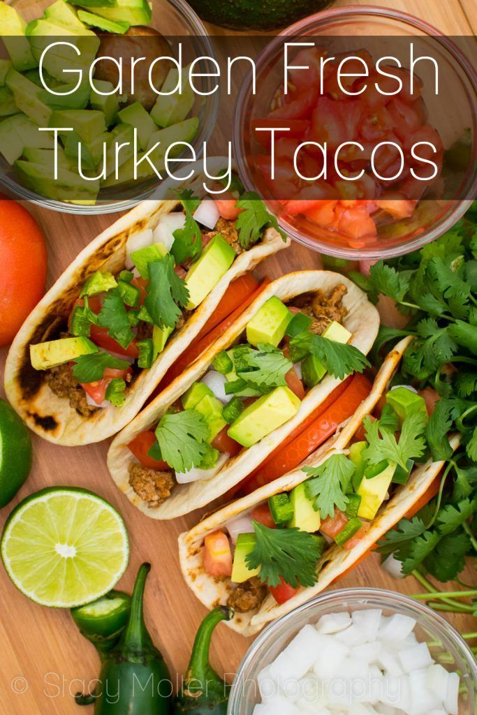 Bursting with fresh flavors like tomatoes, avocado, jalapeno, and cilantro, this Garden Fresh Turkey Taco Recipe will take your taste buds on a refreshing journey through a bountiful garden.  http://fancyshanty.com/garden-fresh-turkey-taco-recipe/
