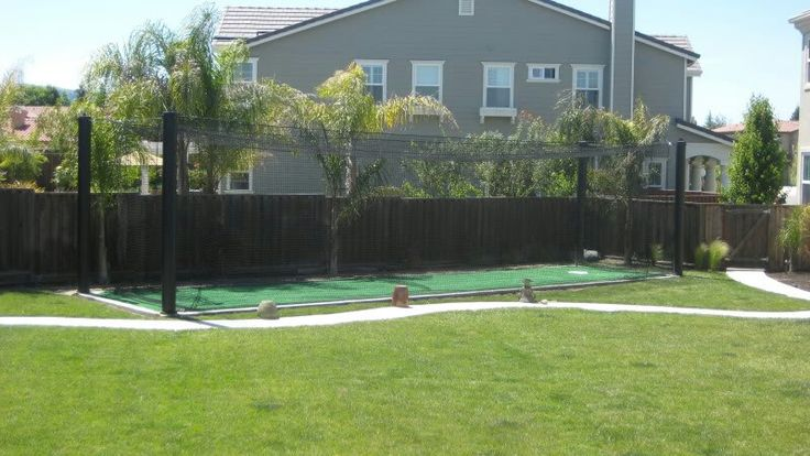 Backyard Batting Cage Ideas together and stand the cage pieces in the existing holes to be sure no modification is required once proper size is verified glue pieces together Backyard Batting Cage Favorites Pinterest