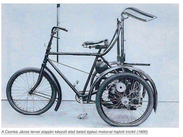Az első motorkerékpártervet Bánki Donát készítette 1894-ben. Az első belső égésű motorral hajtott járművet, melyet postai levélgyűjtésre használtak – Csonka János terve alapján –, a Ganz-gyárban készítették 1900-ban.