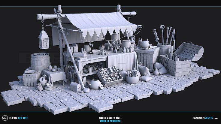 ArtStation - Magic Market Stall - WIP, Ben Tate