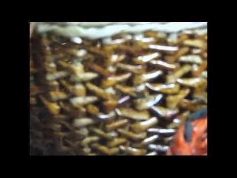 ▶ Cesteria con periodicos en zigzag - YouTube