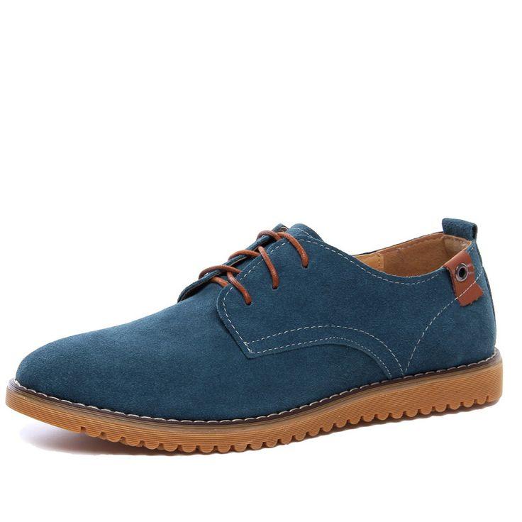 OUDINIAO Men Shoes 2017 Derby Black Cow Suede Shoes Men Fashion Italian Mens Shoes Casual Large Size 6 11 Zapatilla Hombre #Affiliate