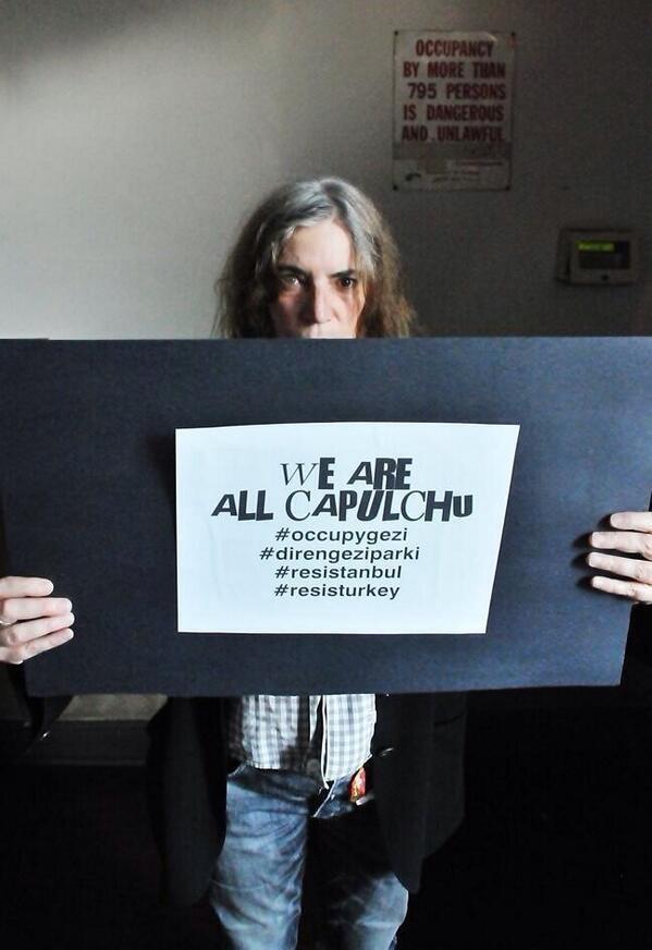 Patti Smith #turkey #occupytaksim #direngeziparkı #occupygezi #occupyturkey