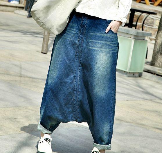Women hip hop streetwear Baggy jeans Boyfriend American pants Wide Leg Baggy Denim Jean Bloomers WP15