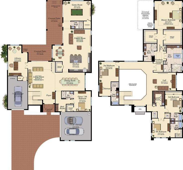 Plan 23663jd 6 Bedroom Beauty With Third Floor Game Room: 17 Best Images About Floor Plans On Pinterest