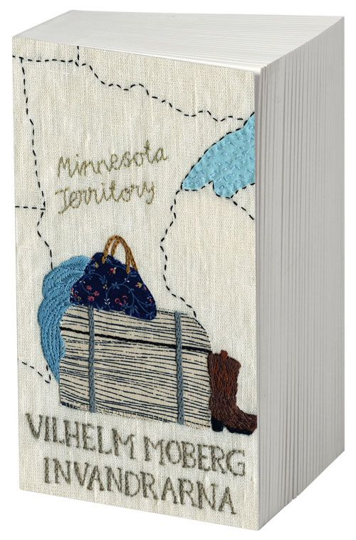 Pretty Peculiarities: Karin Holmberg's amazing embroideries. S: embroidered book covers of Swedish books.