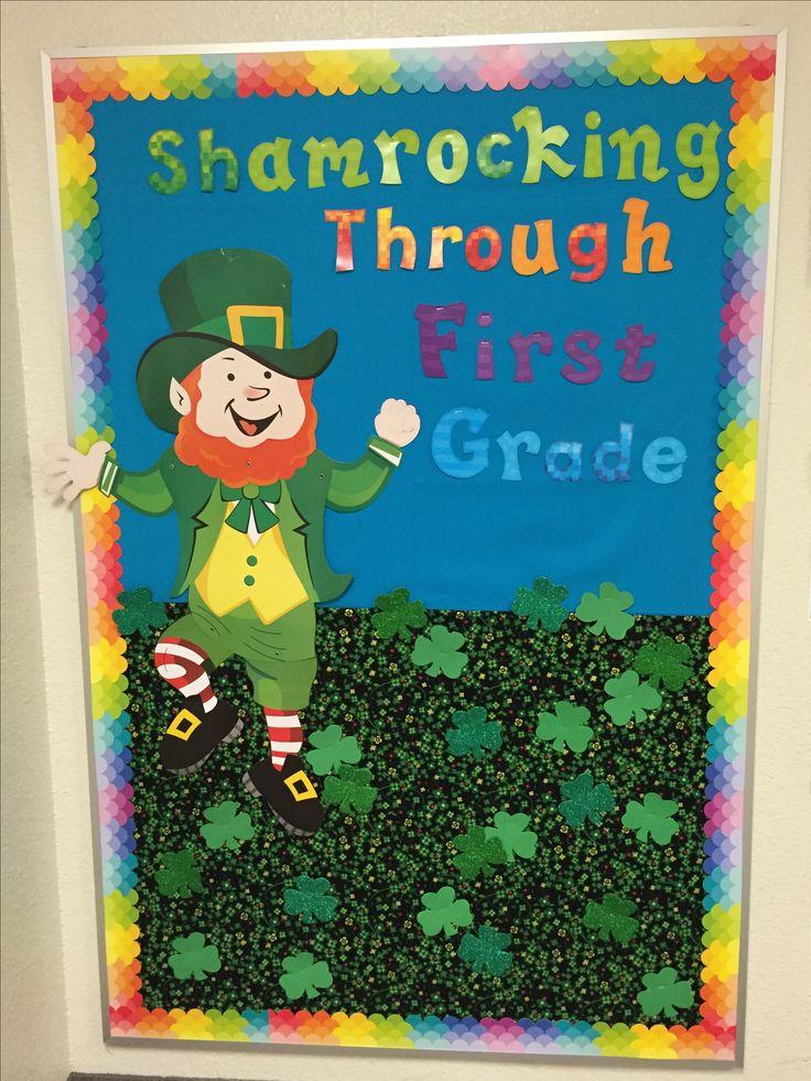 "St. Patrick's Day Bulletin Board ""Shamrocking Through ..."