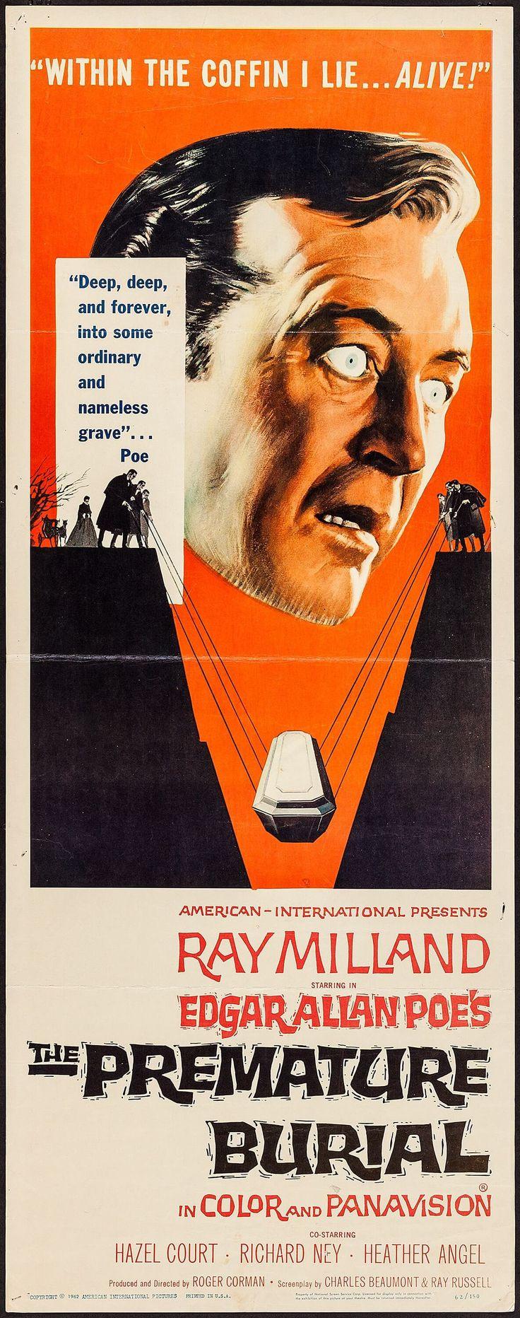"The Premature Burial (American International, 1962). Insert (14"" X 36""). Artwork by Reynold Brown."