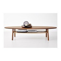 STOCKHOLM Coffee table - IKEA - easy to hide your mess underneath and no sharp corners.