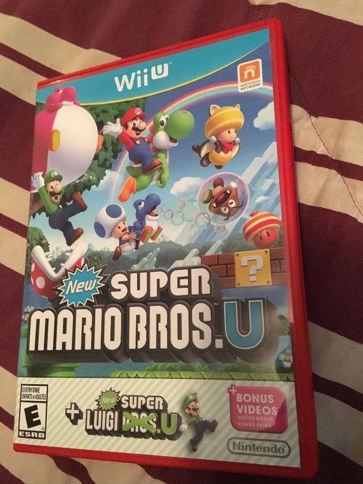 Wiiu Super Mario Bros and Luig 2015 Used Wii U | eBay