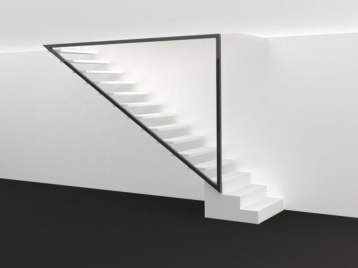 projet escalier métal et garde-corps vitré atelier alain borne créateur métal