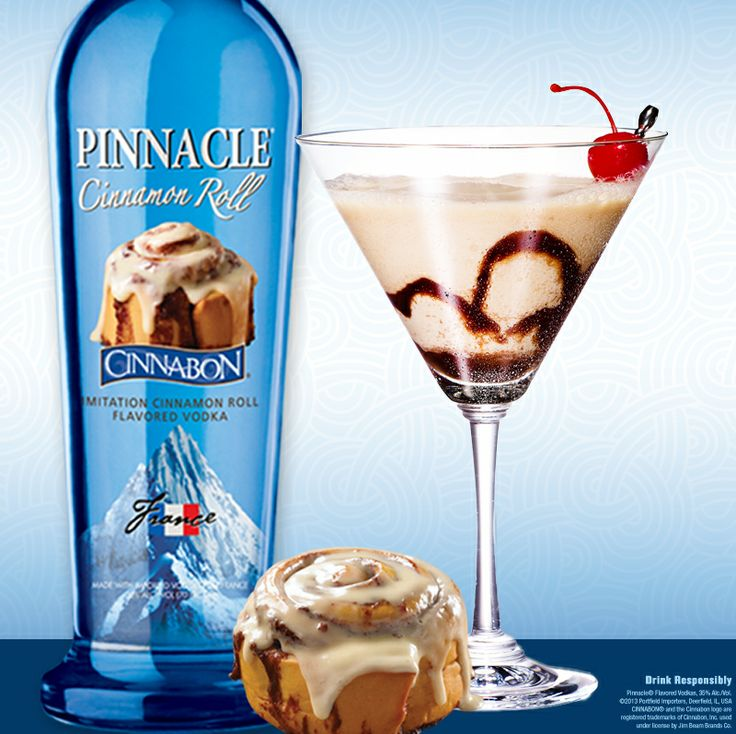 Pinnacle® Sweet Icing 1 part Pinnacle® Cinnabon® Vodka 2 parts Irish Cream Shake with ice and strain into a chocolate swirled martini glass.
