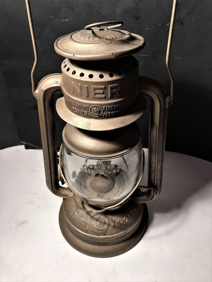 Vintage Kerosene Oil Lantern Lamp Germany Feuerhand Hurricane Model 260 WWII by TanglewoodSecrets on Etsy