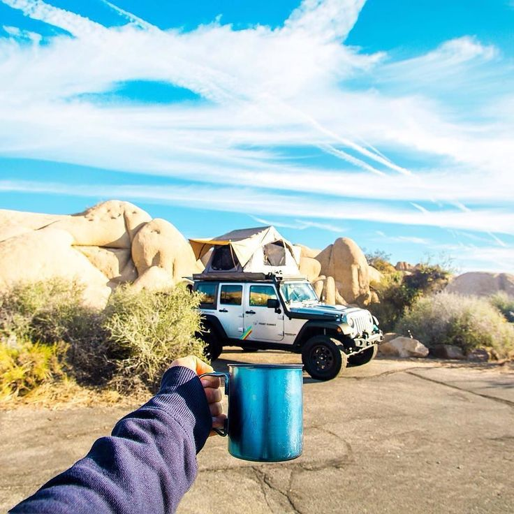 Time for another day of motoring adventure. But first: Coffee. _________________________________ Photo Credit: aggyferrari  # #BornToRoam #frontrunner #frontrunneroutfitters #coffee