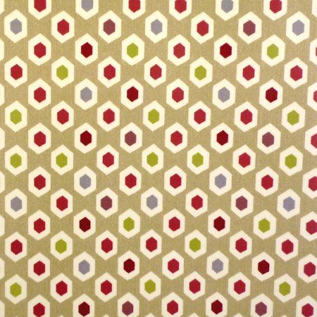 Gemstones Ruby Gloss Oilcloth - Only Oilcloth