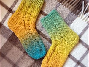 Мастер-класс: «Вязаные и подваляные носочки»   Ярмарка Мастеров - ручная работа, handmade