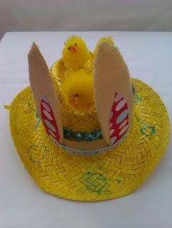 boy's easter hat with felt bunny ears
