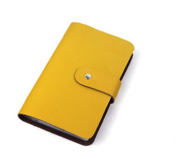 Yellow Colour PU Women Cardholder with Magnet Closing