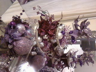 purple christmas for my dressing table