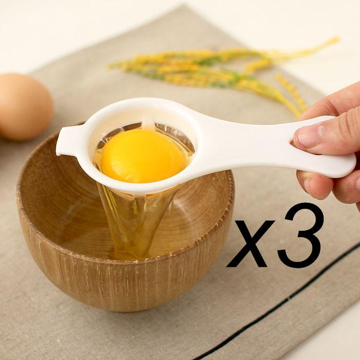 3 sztuk/partia Tworzywa Sztucznego Żółtko Biały Separator Ekologiczny PP Materiał Spożywczy 12*4.5 cm Egg Rozdzielacz Narzędzia