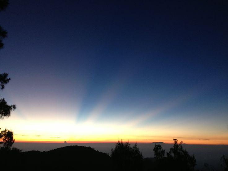 Sunrise,mountain bromo,east java,indonesia