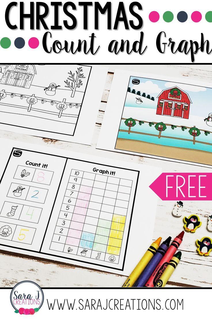 Christmas Count And Graph Kindergarten Math Lesson Kindergarten Lesson Plans Preschool Fun