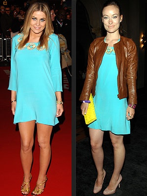 celebrity fashion Love Turquoise Clothes too!