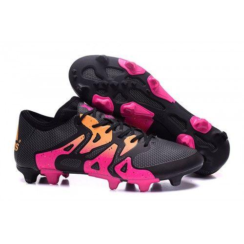 2016 adidas x 15.1 черный Розовый золотой футбольные бутсы для