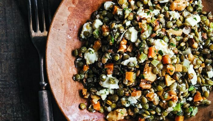 French Lentil Salad with Goat Cheese and Walnuts | The Splendid Table