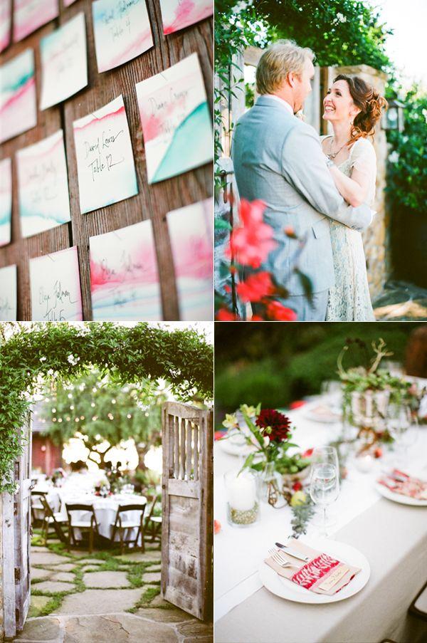 Eclectic Watercolor Wedding