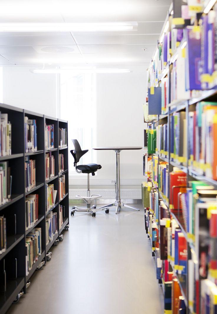 St Olav's Hospital Library with black HÅG Capisco Puls #eduaction #design #Scandinavian #InspireGreatWork