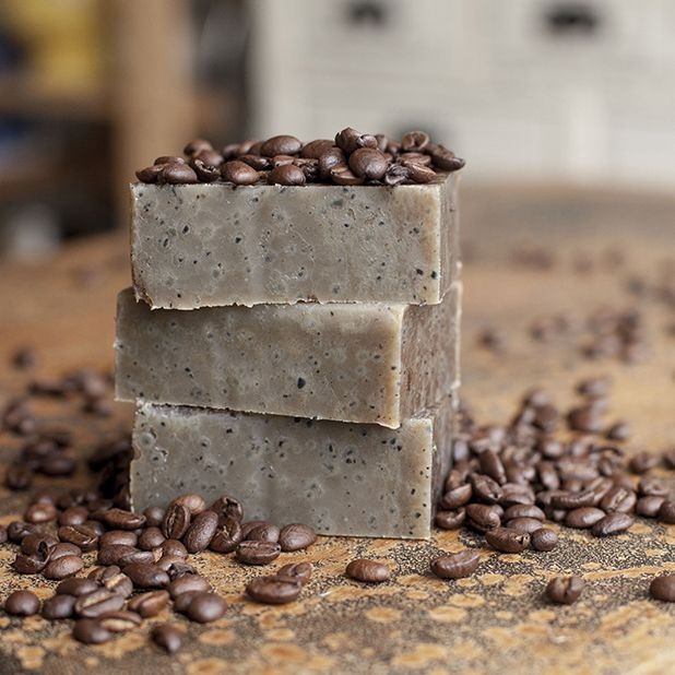 A Recipe for Cafe Soap! change up the oils (re-calculate) but use coffee for the H2O, coffee grounds, and coffee scent, this would rock; perhaps 1/2 goat's milk, 1/2 coffee, swirl white, brown.. hmmmmm.. looks like a good Christmas soap