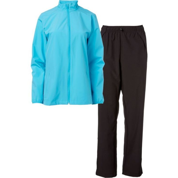 Slazenger Women's Packable Golf Rain Suit, Size: Medium, Aqua Scuba