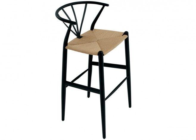 Dan-Form Delta Barstol, svart/natur