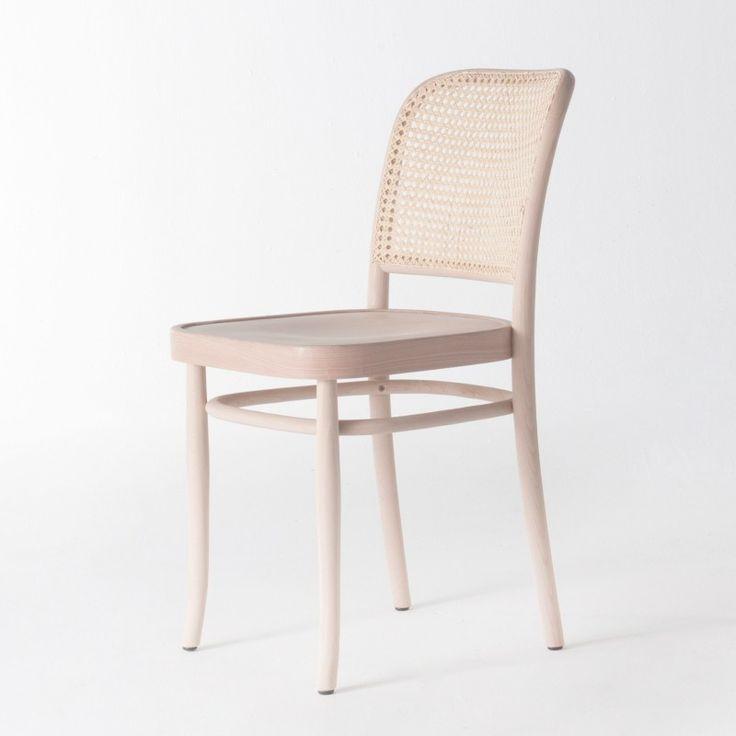Chaise de bistrot cannée cirée incolore