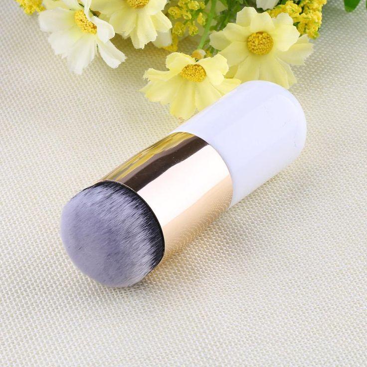 Vendita calda fondazione pennello piatto il portatile BB cream spazzola di trucco Professionale strumenti di Bellezza