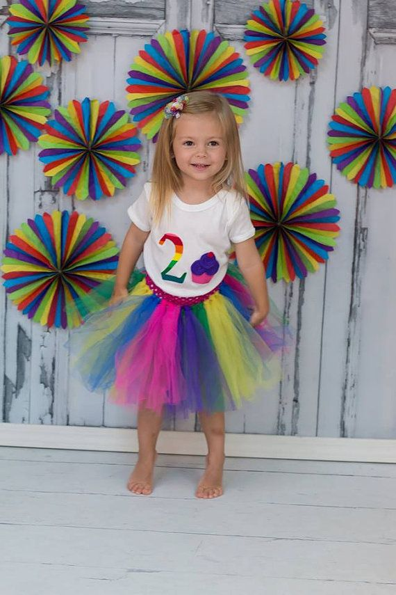 SALE Girls Two Year Birthday Tutu Outfit Cupcake by jwhizcrochet