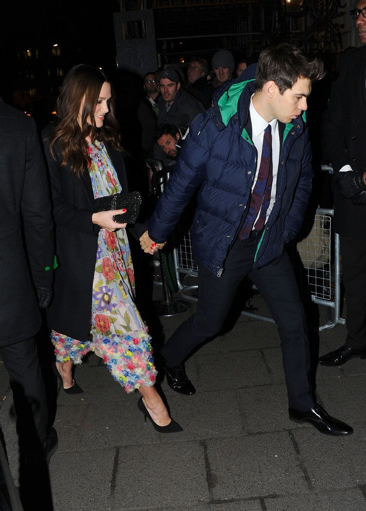 Keira Knightley Photos Photos - Kiera Knightly and James Righton attend the Charles Finch & CHANEL Pre-BAFTA party at Annabel's on February 7, 2015 in London, England. - Charles Finch & CHANEL Pre-BAFTA Dinner - Arrivals