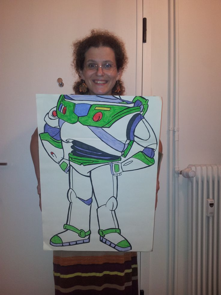 "a hand painted  ""buzz light year"" photo booth!"