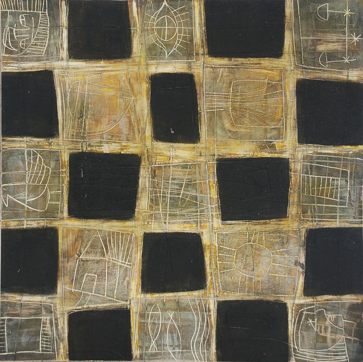 Textile series 1 de 2 oil on clayboard 35 x 35 cm 2008