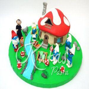 Şirinler pasta, şirinler doğum günü pastası , butik pasta, çocuk pastaları #şirinler #butikpasta #çocukpastası #şirinlerpasta
