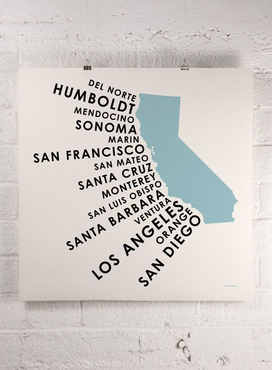 """An interesting way to show population/a version of a tag """"cloud"""" I haven't seen. #information_design #california"""