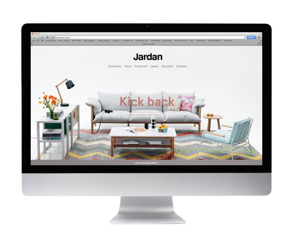 Australian furniture brand Jardan have a beautiful new website, designed by Melbourne studio South South West.