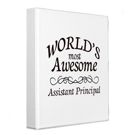 Worlds Most Awesome Assistant Principal 3 Ring Binders