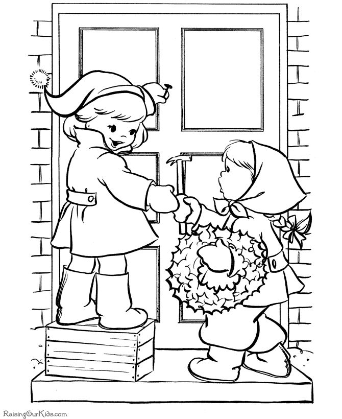 21 Best Christmas Coloring Book Images On Pinterest