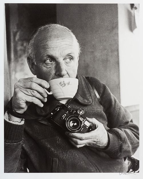 Ara Güler, Henri Cartier-Bresson with Leica M3, 1964.