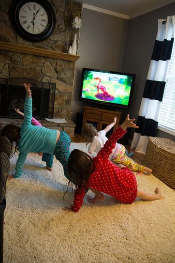 We're Going on a Bear Hunt - kids yoga class plan